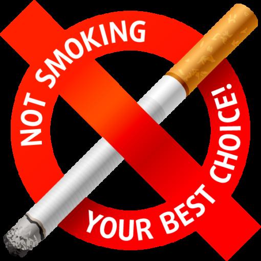 Наклейка Не курить твой лучший выбор