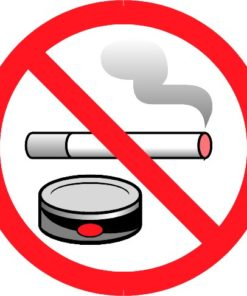 Наклейка Не курить 9