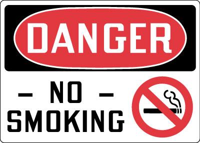 Наклейка Danger No smoking
