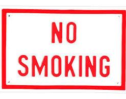 Наклейка No smoking 10