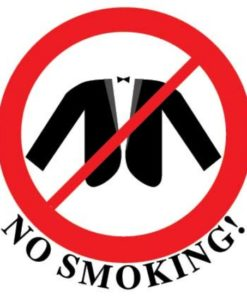 Наклейка No smoking 4