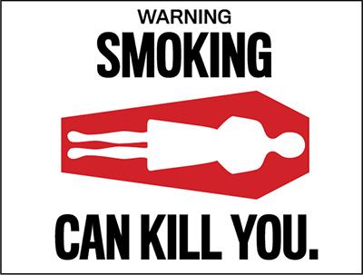Наклейка Smoking can kill you