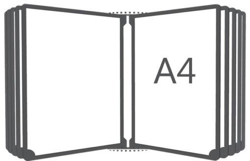Перекидная система вертикальная настенная А4