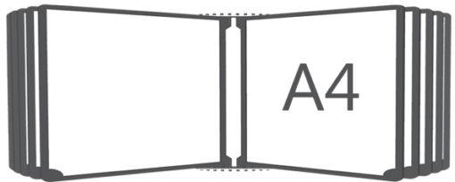 Перекидная система горизонтальная настенная А4