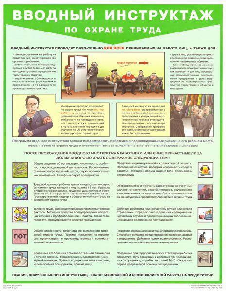 Плакат Вводный инструктаж по охране труда