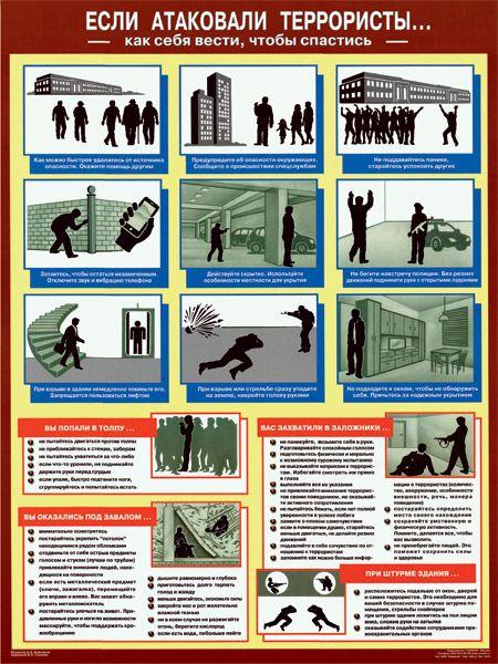 Плакат Если атаковали террористы
