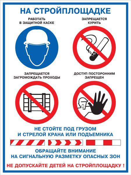 Плакат На стройплощадке