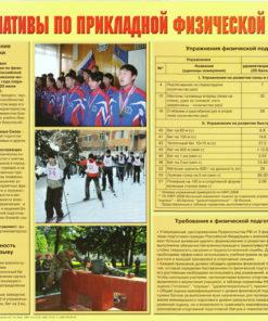Плакат Нормативы по прикладной физической подготовке