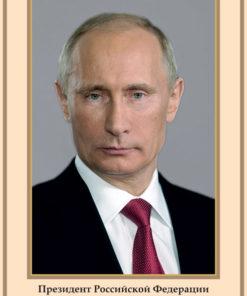 Плакат Портрет Президента РФ В. В. Путина