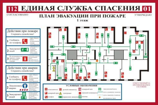 План эвакуации при пожаре. 2019 (А2)