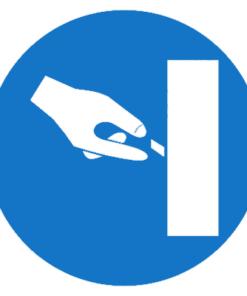 Предписывающий знак Выключите оборудование если не работаете (М37)