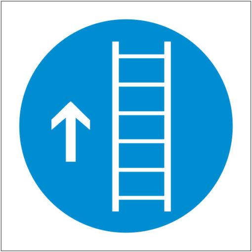 Предписывающий знак Используйте лестницу (трап