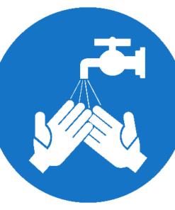 Предписывающий знак Мыть руки (М20)