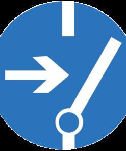 Предписывающий знак Отключить перед работой (M14)