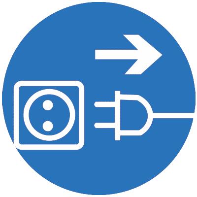 Предписывающий знак Отключить штепсельную вилку (M13)