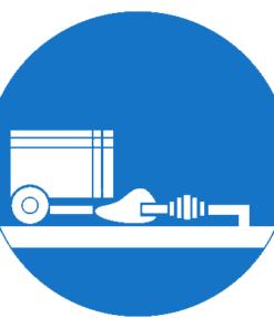 Предписывающий знак При запуске двигателя одень на выхлопную трубу газосборник (М19)