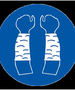 Предписывающий знак При работе обязательное использование нарукавников (М 45)