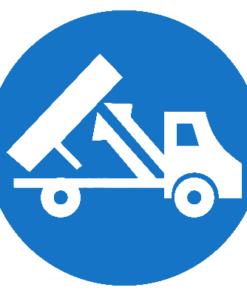 Предписывающий знак При ремонте гидроподъемника кузова подставь дополнительный упор(штангу) (М21)