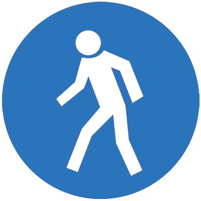 Предписывающий знак Проход здесь (M10)