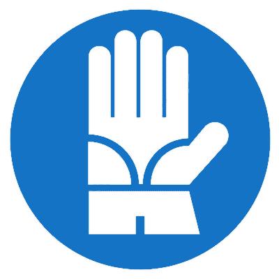Предписывающий знак Работать в диэлектрических перчатках (М30)