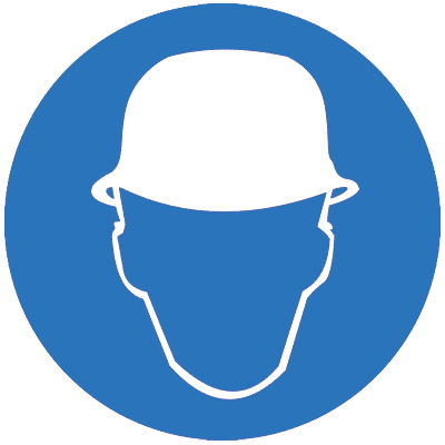 Предписывающий знак Работать в защитной каске (шлеме) (M02)