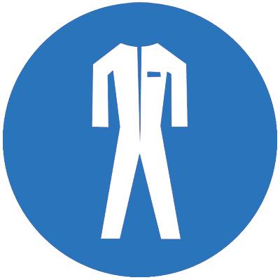 Предписывающий знак Работать в защитной одежде (M07)