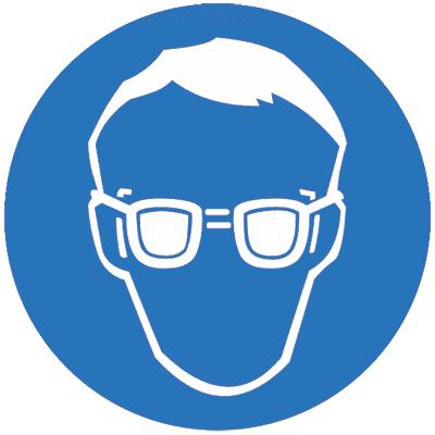 Предписывающий знак Работать в защитных очках (M01)