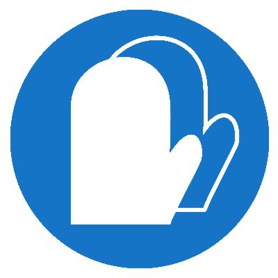 Предписывающий знак Работать в защитных перчатках (рукавицах) (М16)