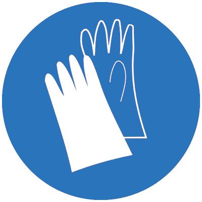 Предписывающий знак Работать в защитных перчатках (M06)