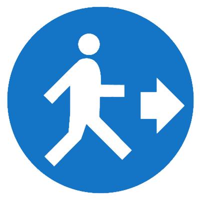 Предписывающий знак (M 43)