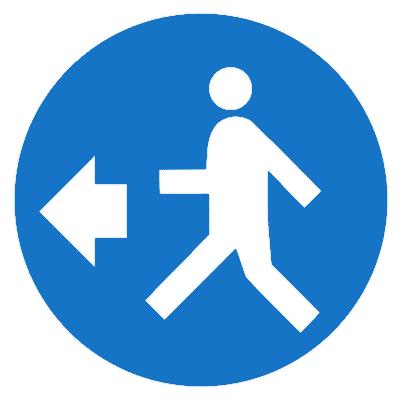 Предписывающий знак (M 44)