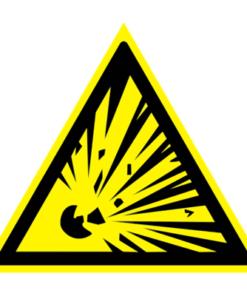 Предупреждающий знак Взрывоопасно W 02