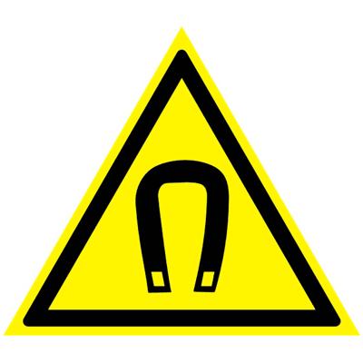 Предупреждающий знак Внимание! Магнитное поле W 13
