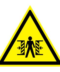 Предупреждающий знак Внимание! Опасность зажима W 23
