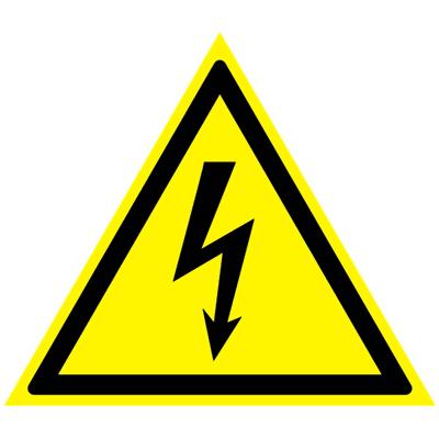 Предупреждающий знак Внимание! Опасность поражения электрическим током W 08