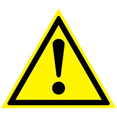 Предупреждающий знак Внимание! Опасность (прочие опасности) W 09