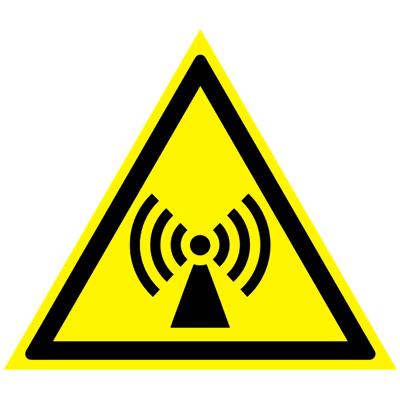 Предупреждающий знак Внимание! Электромагнитное поле W 12