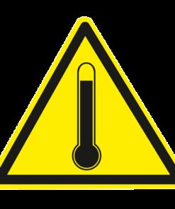 Предупреждающий знак Высокая температура