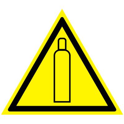 Предупреждающий знак Газовый баллон W 19