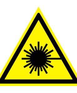 Предупреждающий знак Опасно! Лазерное излучение W 10