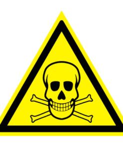 Предупреждающий знак Опасно! Ядовитые вещества W 03