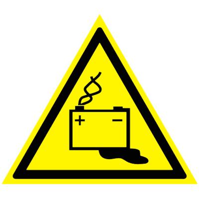 Предупреждающий знак Осторожно! Аккумуляторные батареи W 20