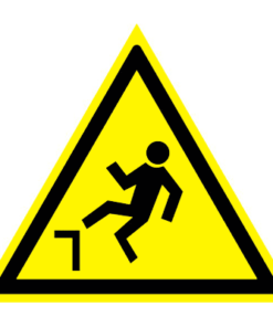 Предупреждающий знак Осторожно! Возможность падения с высоты W 15