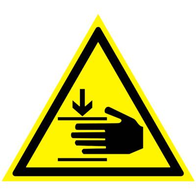 Предупреждающий знак Осторожно! Возможно травмирование рук W 27