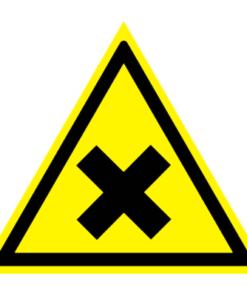 Предупреждающий знак Осторожно! Вредные для здоровья аллергические (раздражающие) вещества W 18