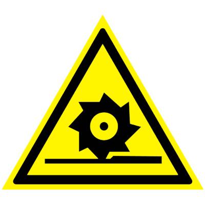 Предупреждающий знак Осторожно! Режущие валы W 22