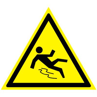 Предупреждающий знак Осторожно! Скользко W 28