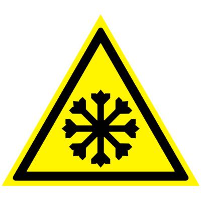 Предупреждающий знак Осторожно! Холод W 17