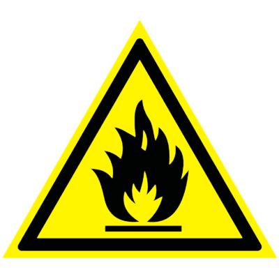Предупреждающий знак Пожароопасно! Легковоспламеняющиеся вещества W 01