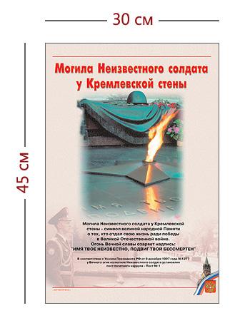 Стенд «Могила неизвестного солдата» (1 плакат)